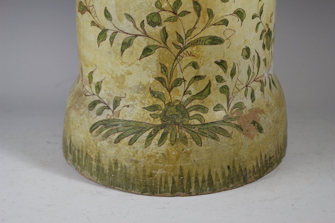 Terracotta Painted Tile Umbrella Stand - 4