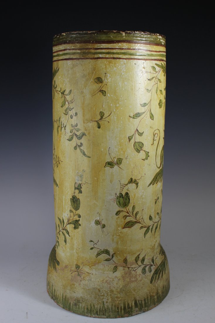 Terracotta Painted Tile Umbrella Stand - 6