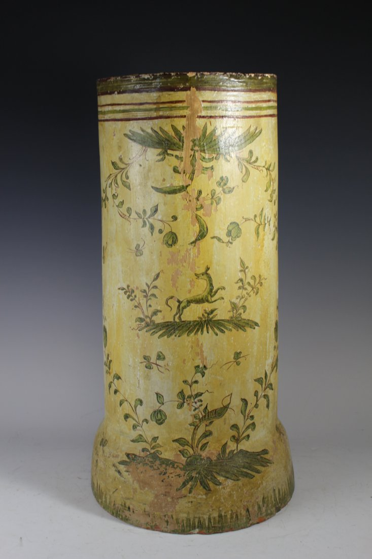Terracotta Painted Tile Umbrella Stand - 8
