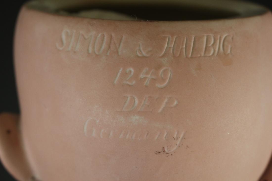 "Antique Simon & Halbig 1249 German 32"" Bisque Doll - 7"