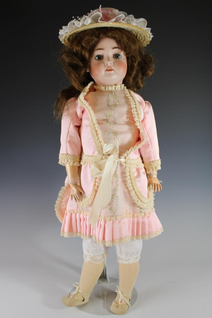 """Antique Hertel & Schwabb 136 German 30"""" Bisque Doll"""