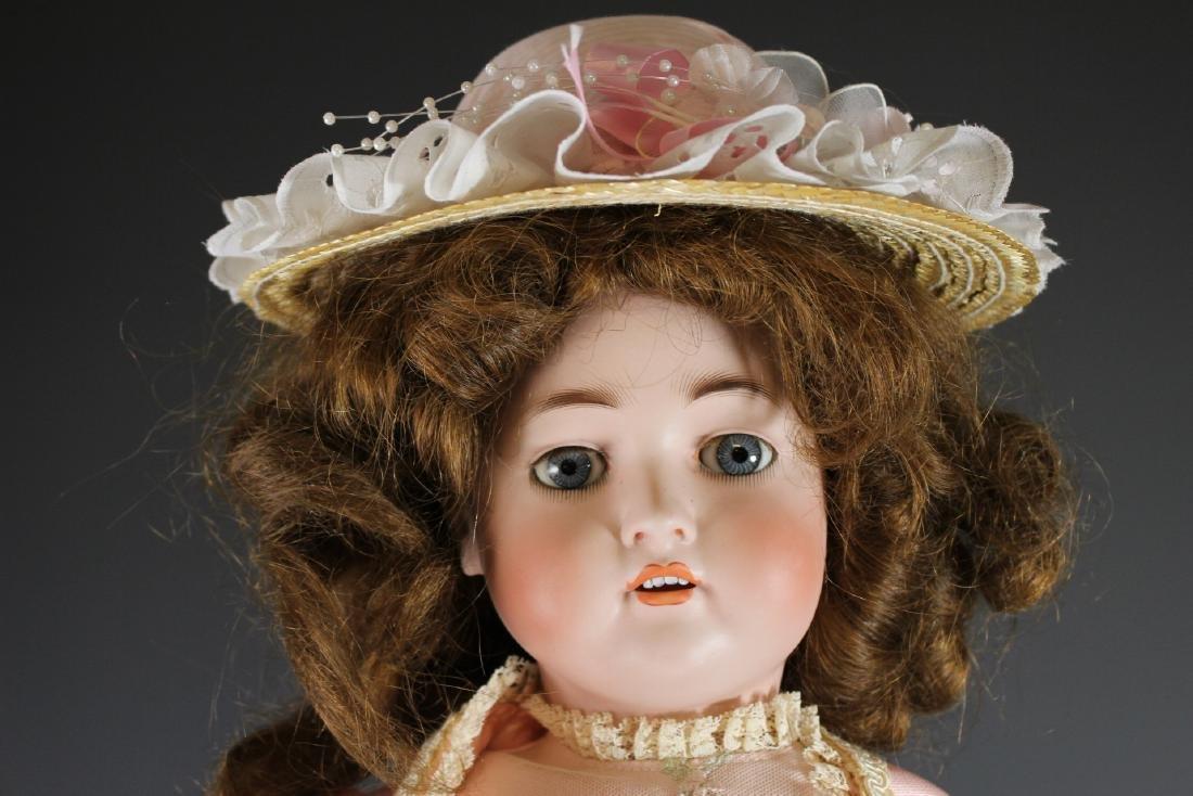 """Antique Hertel & Schwabb 136 German 30"""" Bisque Doll - 2"""