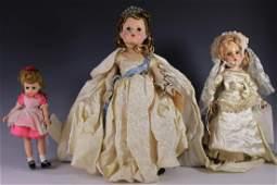 Three Antique Madame Alexander Dolls