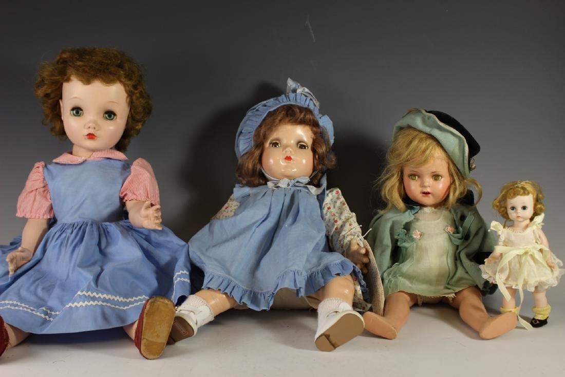 "Four Madame Alexander Dolls 8""-24"""