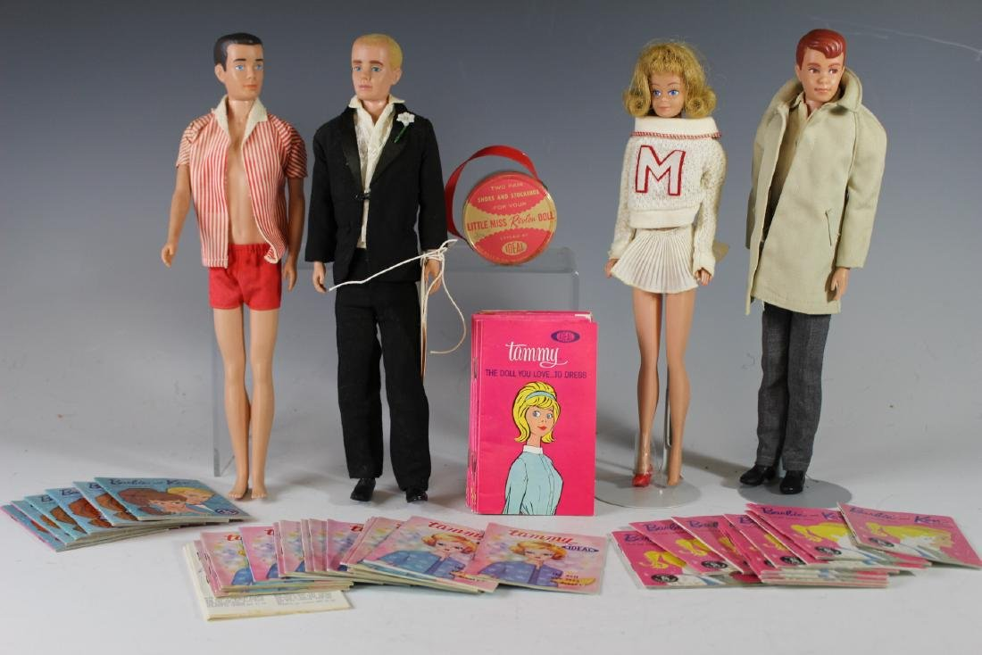 Four Ca. 1960s Mattel Dolls And Booklets/Brochures