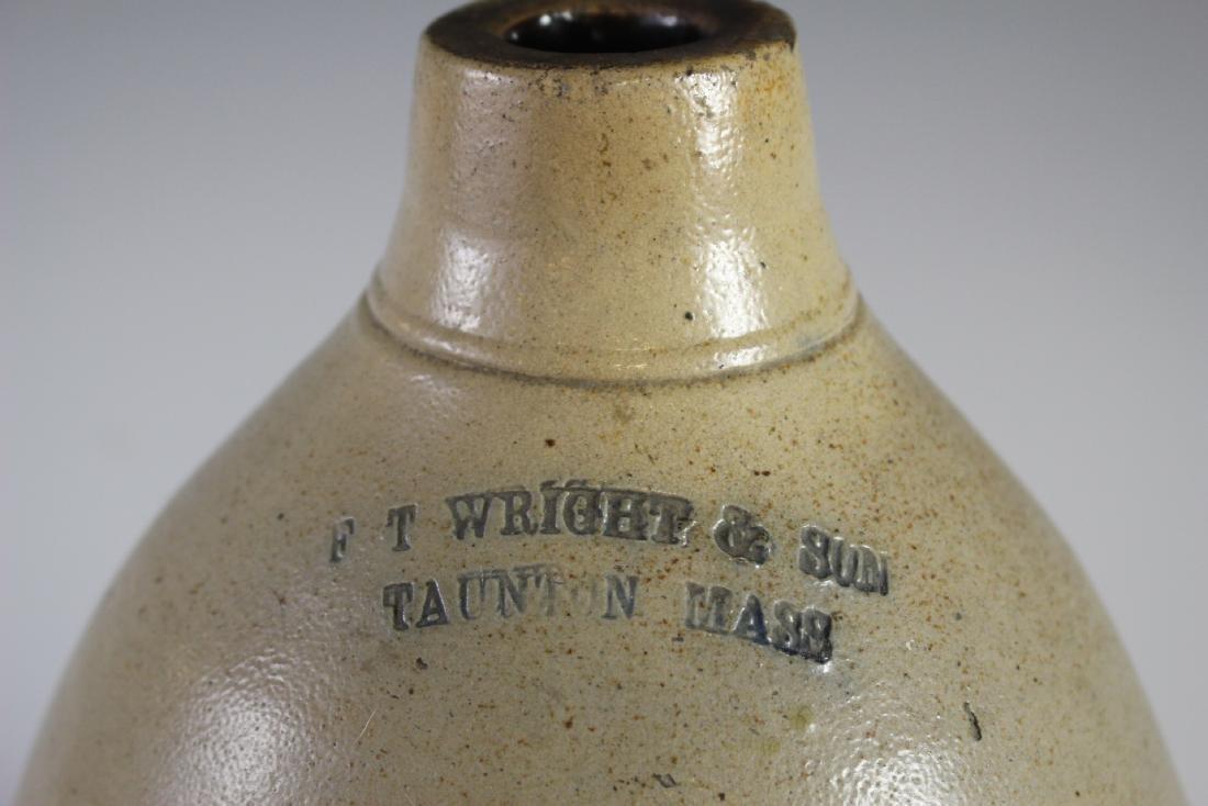 F.T.  Wright & Son Decorated Stoneware Crock Jug - 2