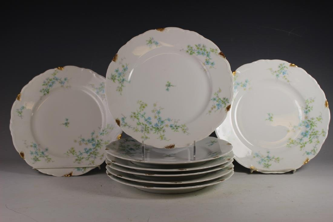 Eight C. Ahrenfeldt Limoges Dinner Plates