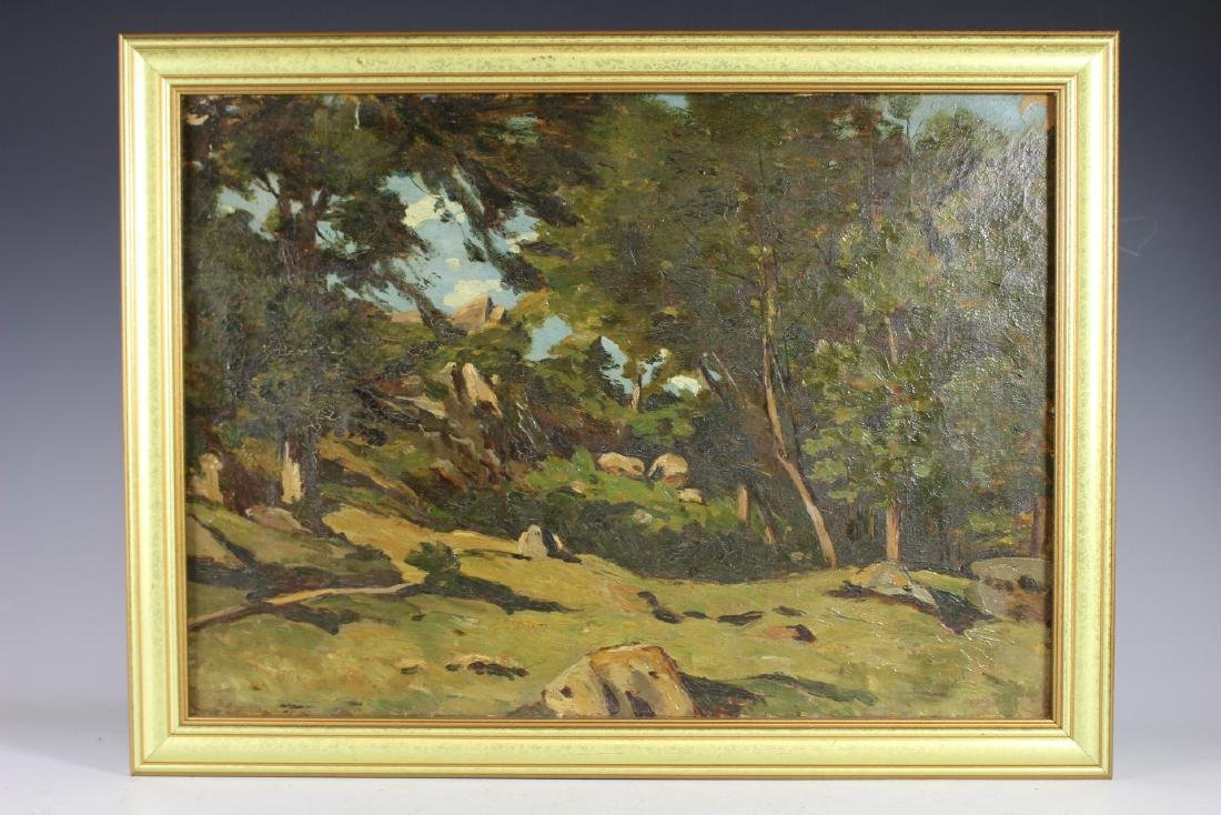 20th Century Landscape Painting  Oil on Canvas