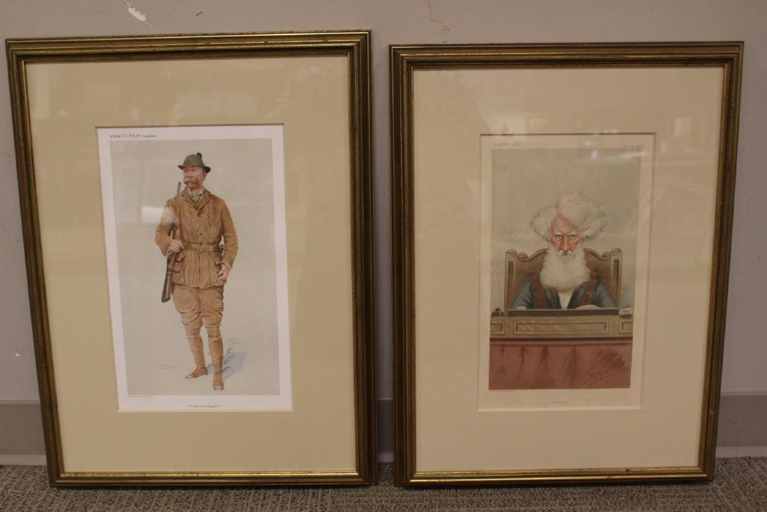Two VANITY FAIR Framed Lithographs - 10