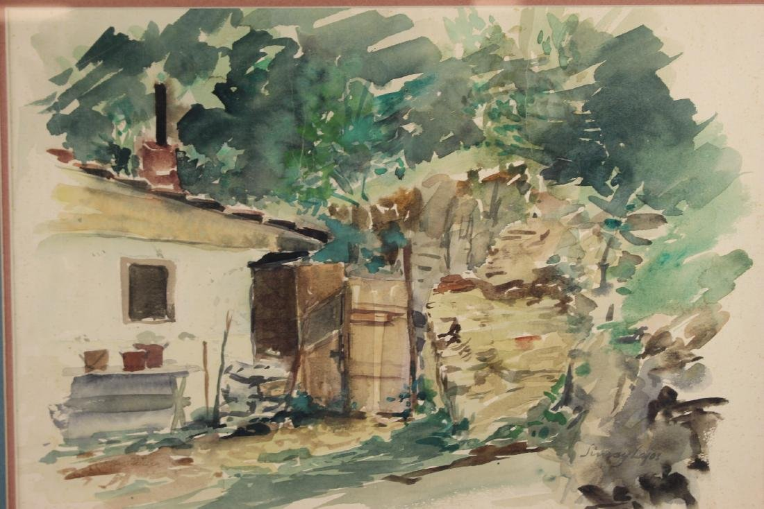 Signed 20th Century Watercolor - 2