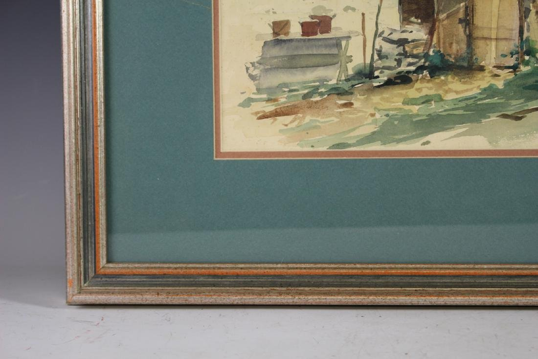Signed 20th Century Watercolor - 4