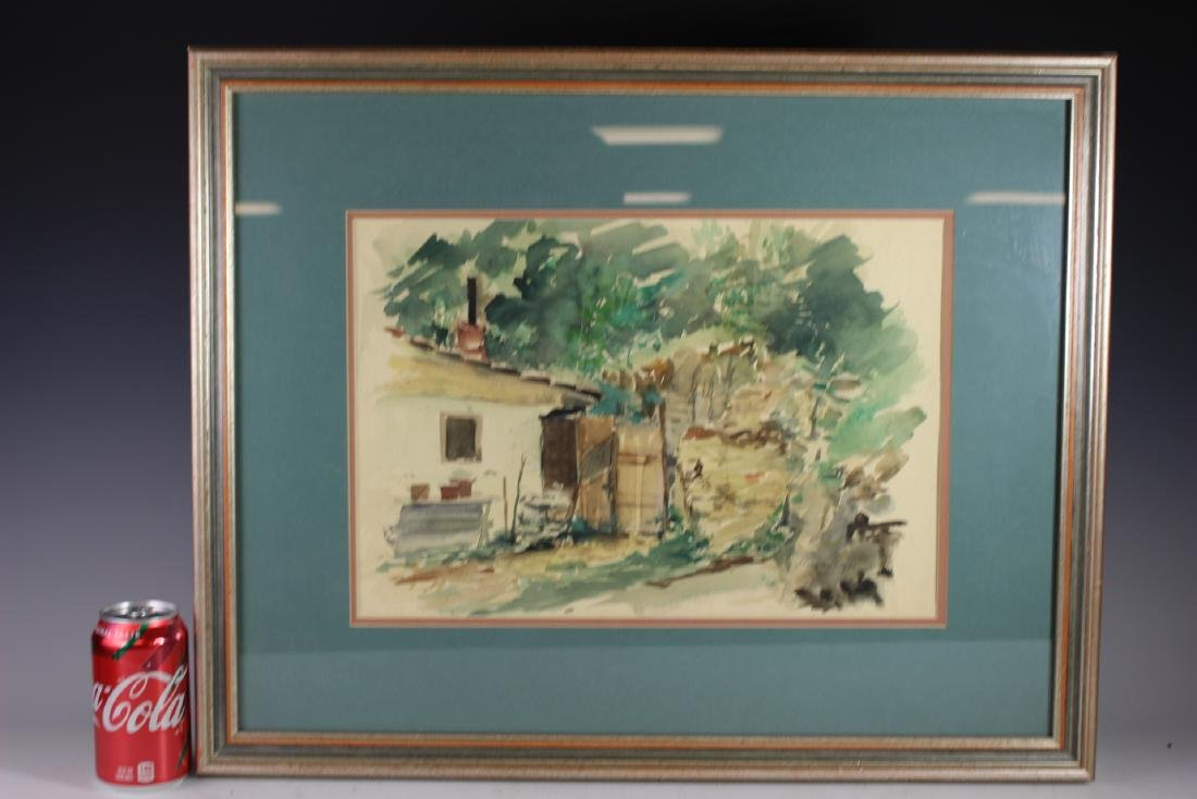 Signed 20th Century Watercolor - 6
