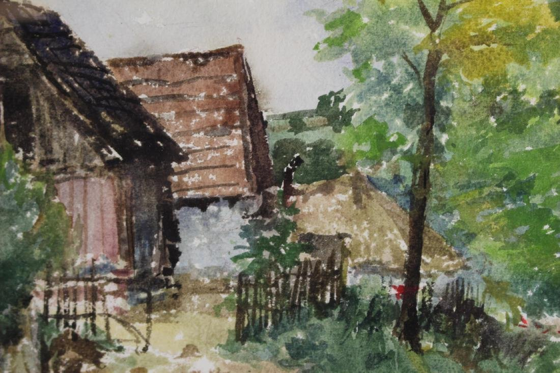 Signed 20th Century Watercolor - 5