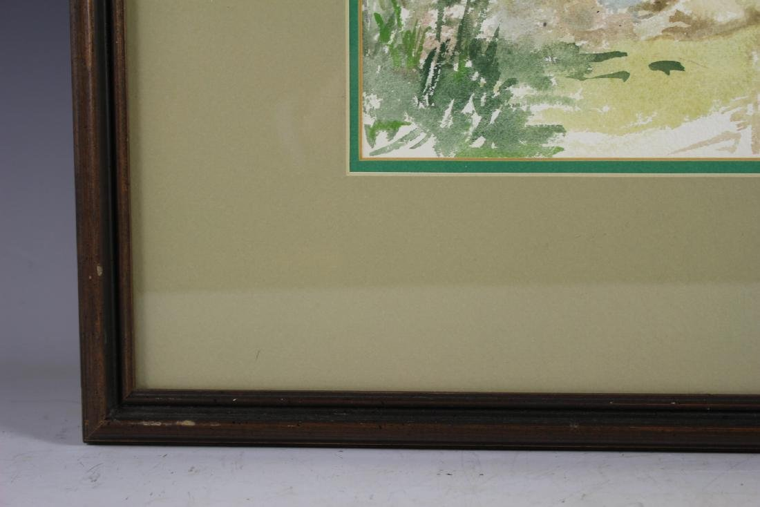 Signed 20th Century Watercolor - 7