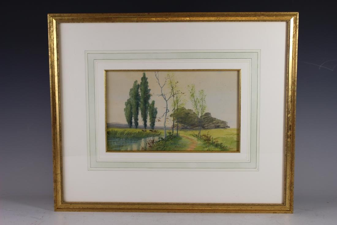 Signed SATH JANES 20th Century Watercolor