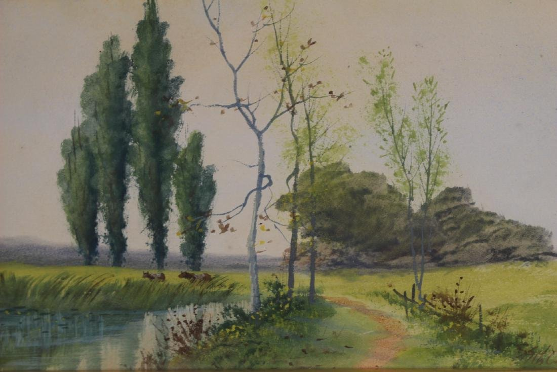 Signed SATH JANES 20th Century Watercolor - 2