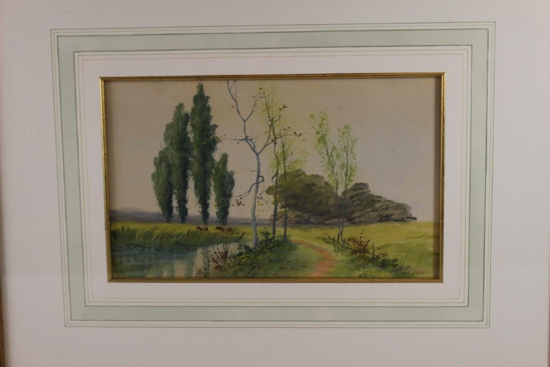 Signed SATH JANES 20th Century Watercolor - 3