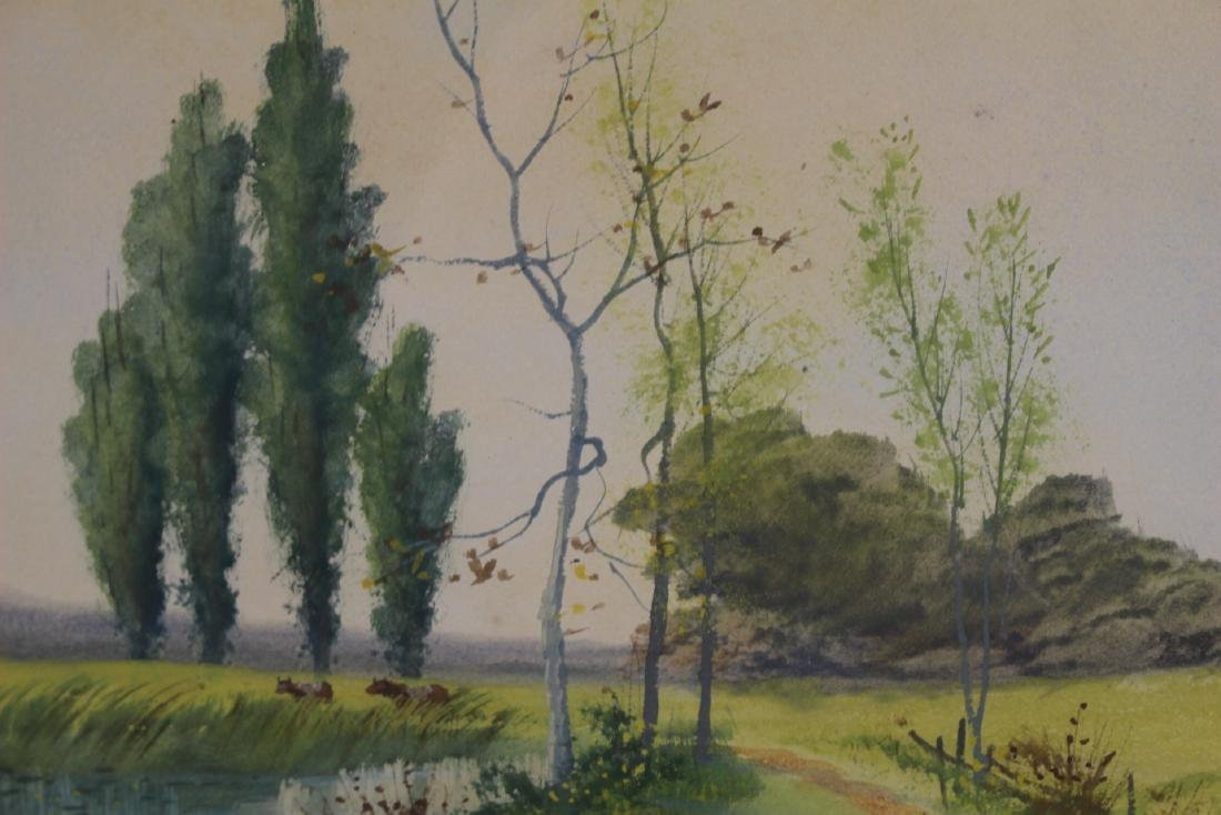 Signed SATH JANES 20th Century Watercolor - 4