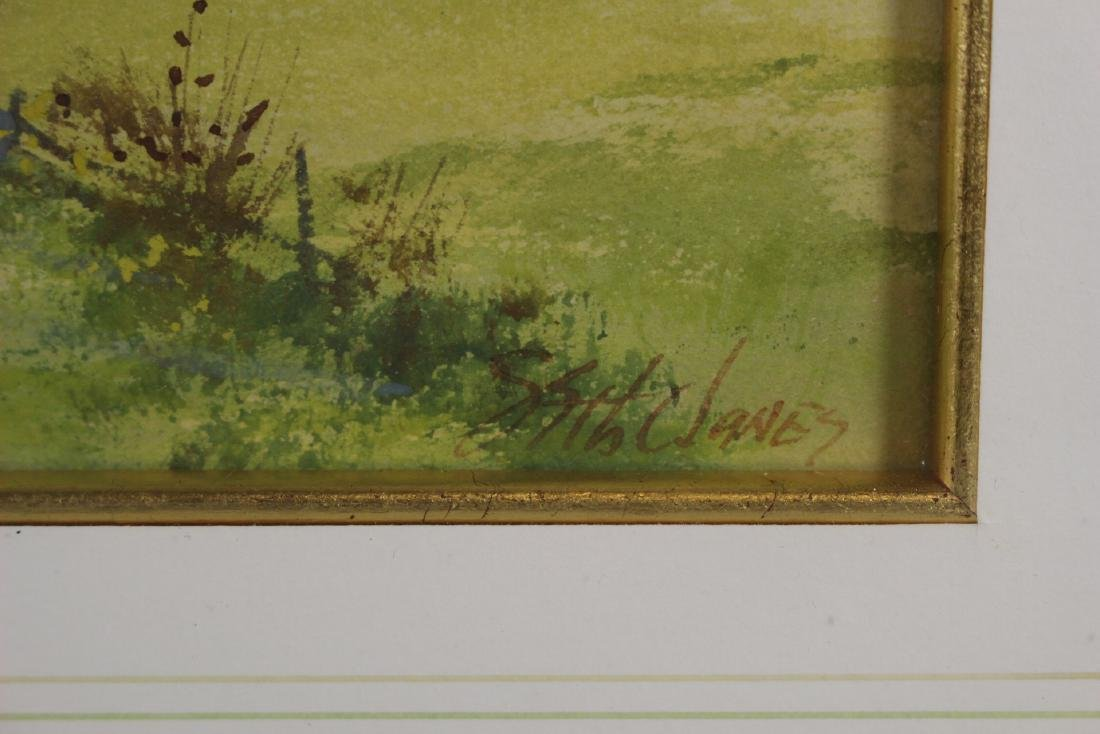 Signed SATH JANES 20th Century Watercolor - 5