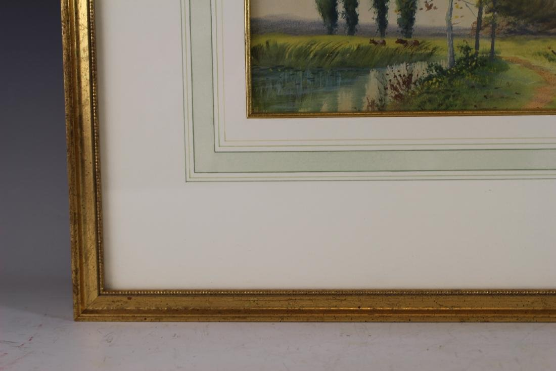 Signed SATH JANES 20th Century Watercolor - 6