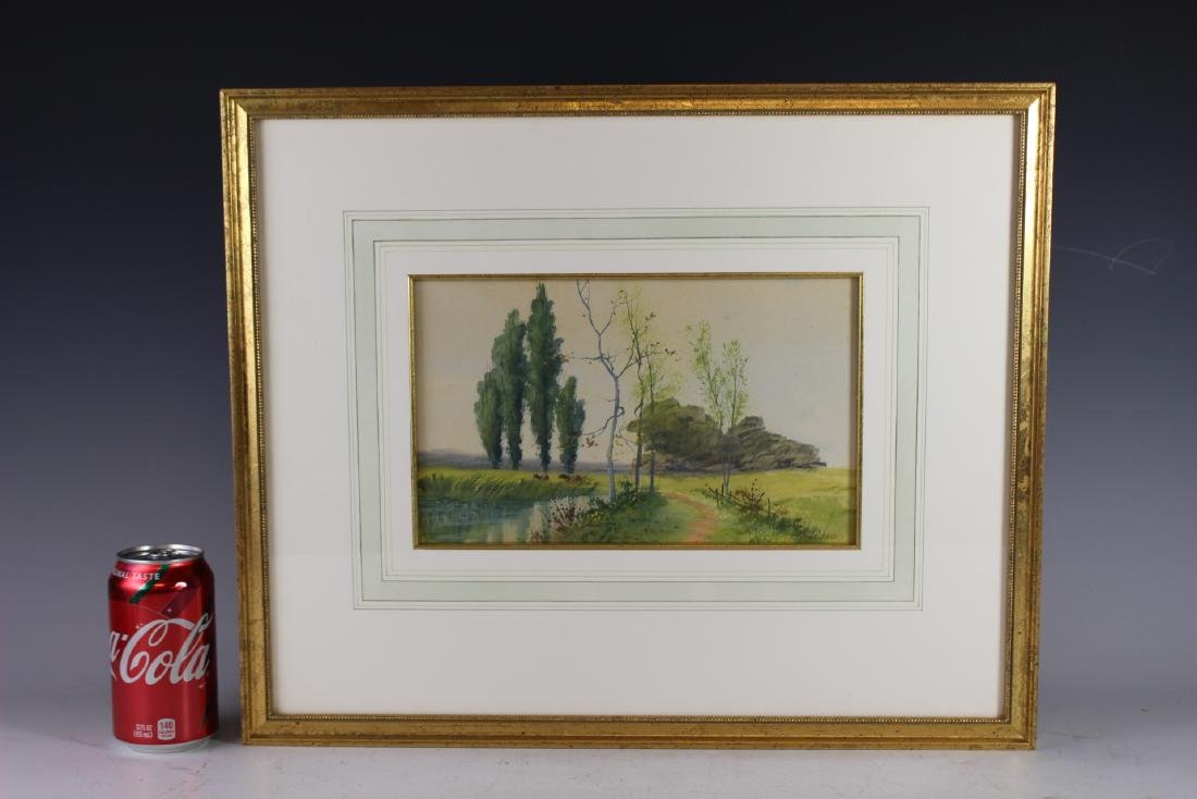 Signed SATH JANES 20th Century Watercolor - 7