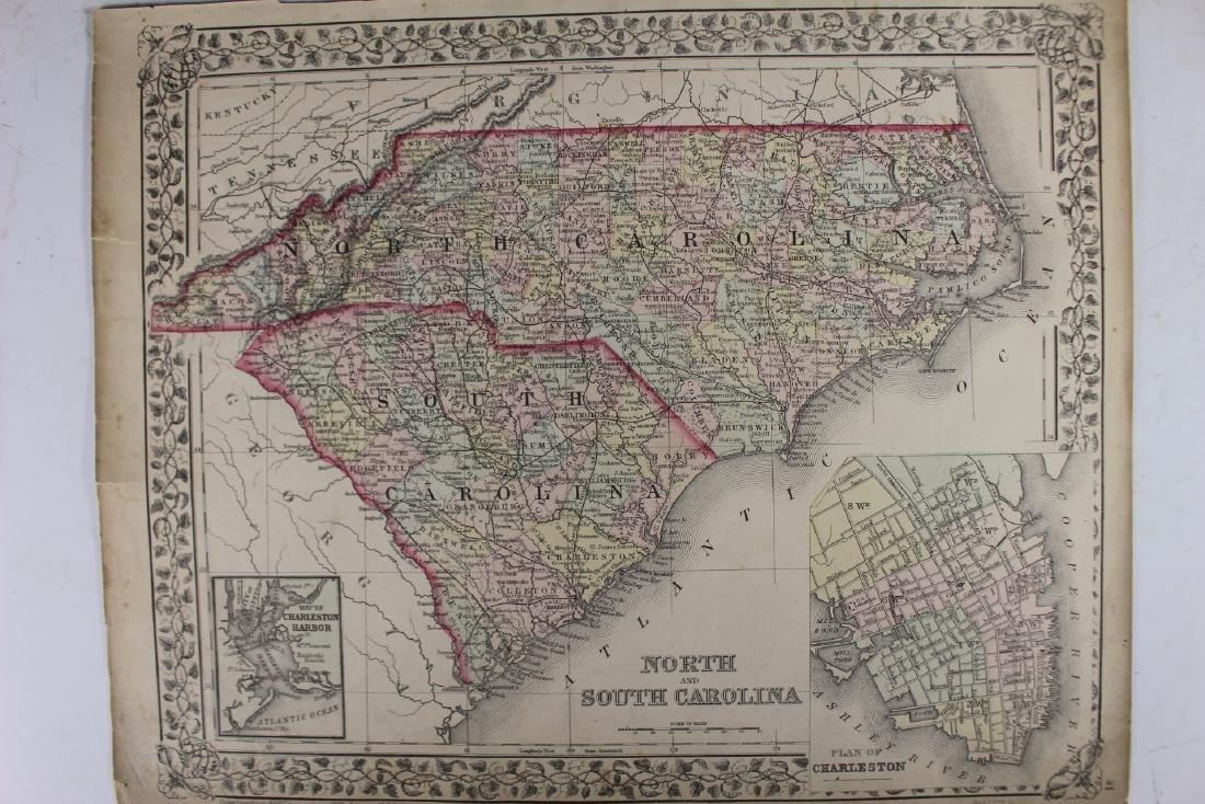 Eight (8) Augustus Mitchell Maps