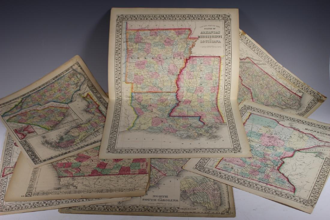 Eight (8) Augustus Mitchell Maps - 2