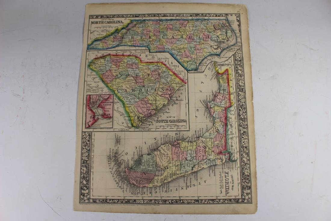 Eight (8) Augustus Mitchell Maps - 6