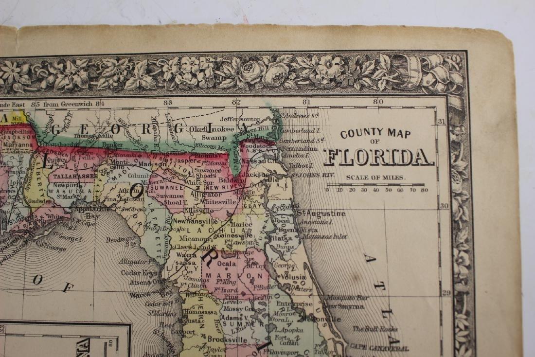 Eight (8) Augustus Mitchell Maps - 8