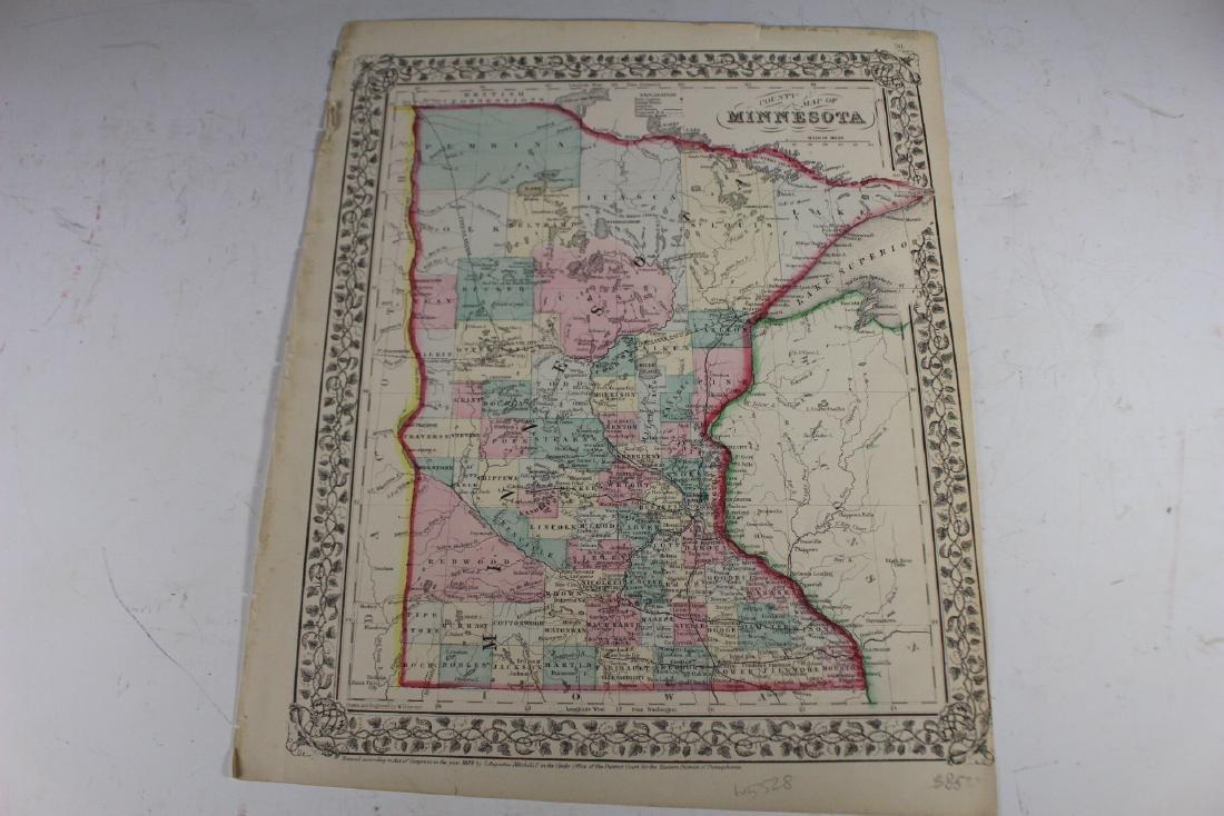 Eight (8) Augustus Mitchell Maps - 9