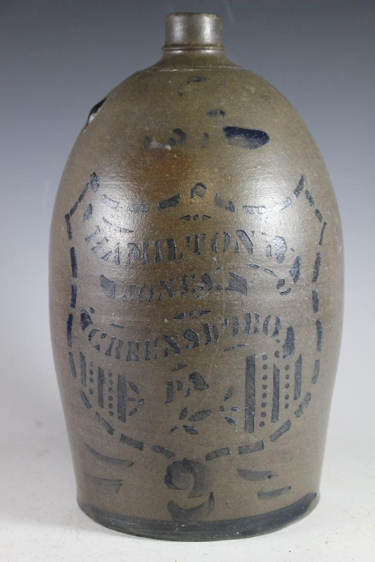HAMILTON & JONES  GREENSBORO Stoneware Jug