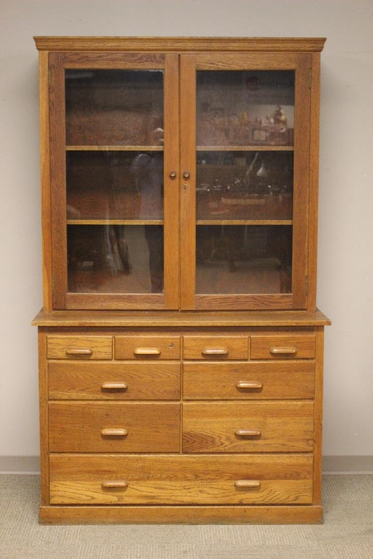 20th. Century Oak Country Store Cabinet