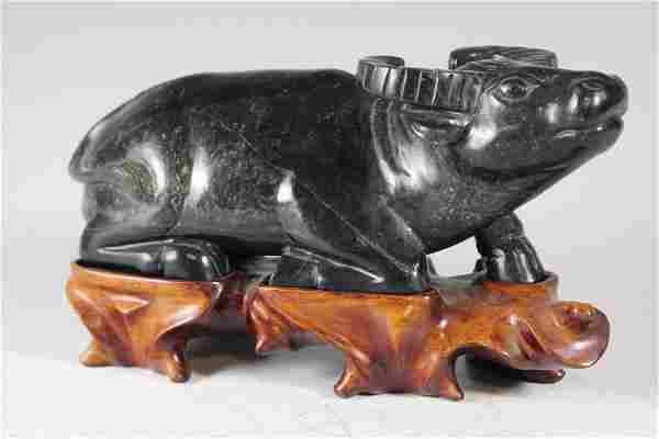 Carved Chinese Hardstone OX