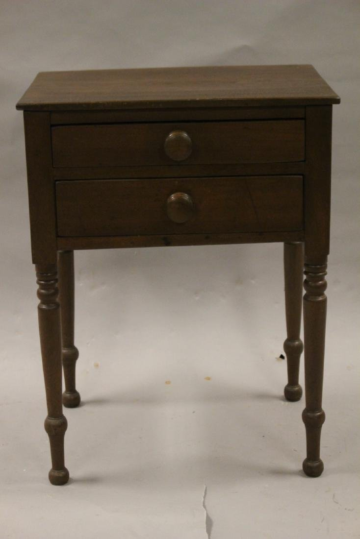 19th Century Two Drawer Work Table