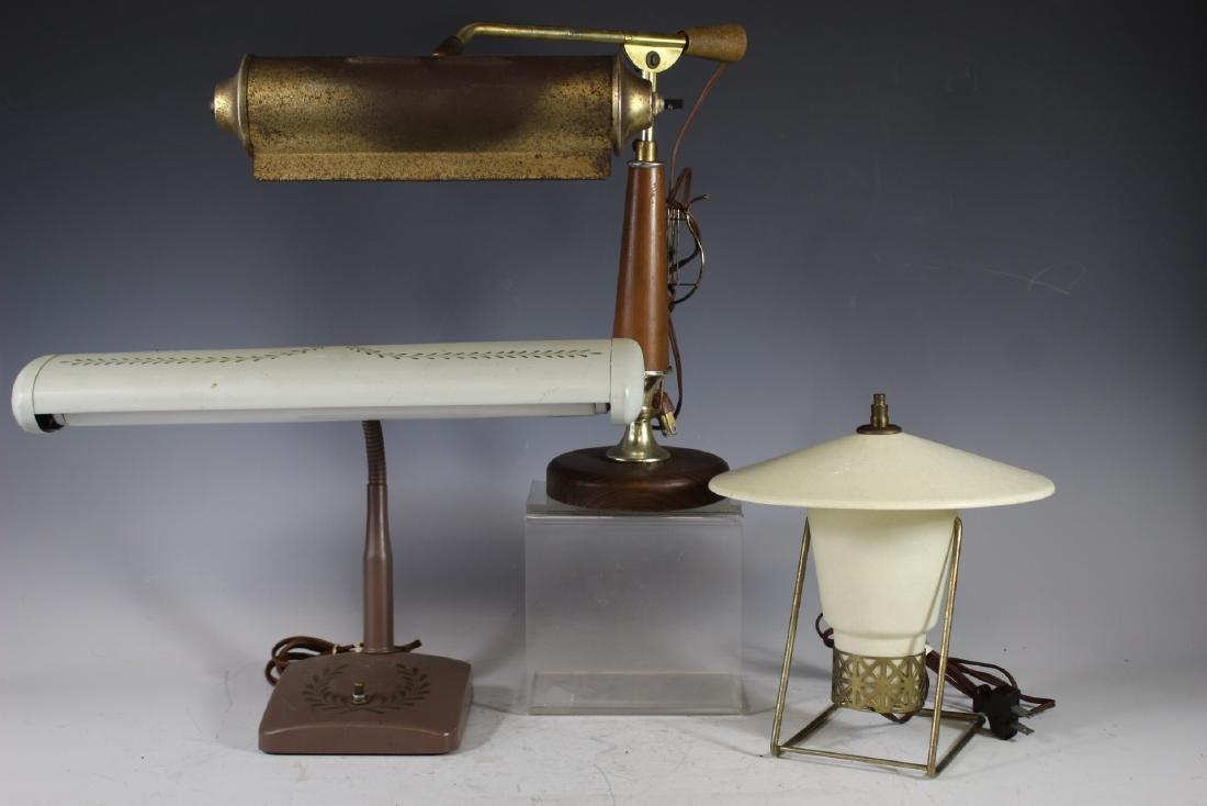 Three Mid Century Modern Lamps