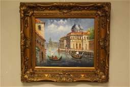 Venetian Oil On Canvas Giclee