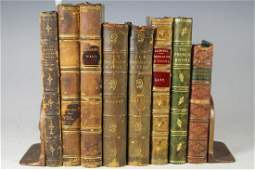 Collection of Early Leather Bound Books