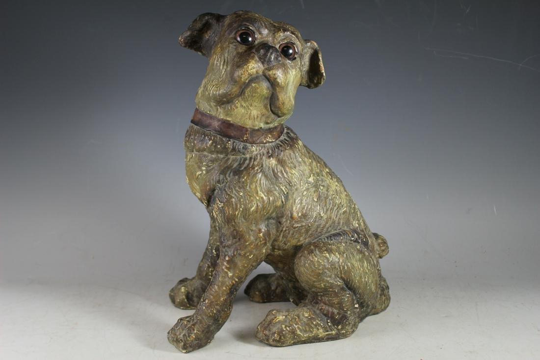 Mid Century Modern Dog Sculpture Maitland Smith