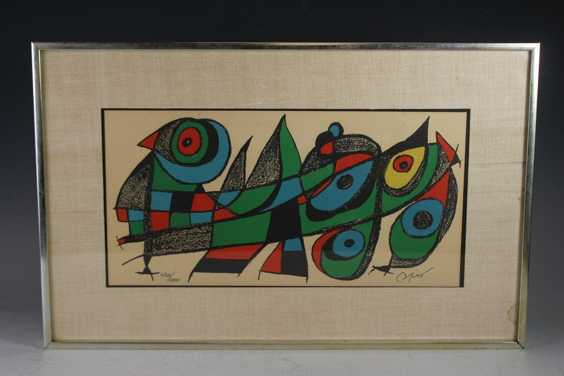 Joan Miro Signed and Numbered Lithograph