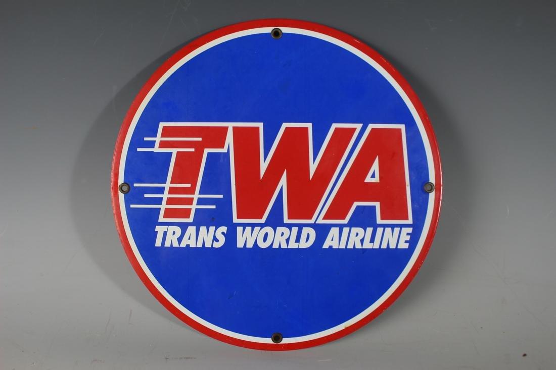 Trans World Airlines Vintage Sign