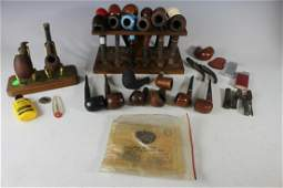 Large Collection of Vintage Tobacco Pipes