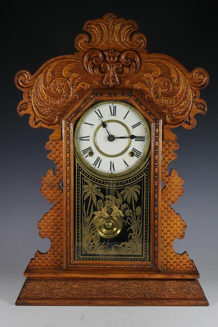 E. Ingram American Oak Clock