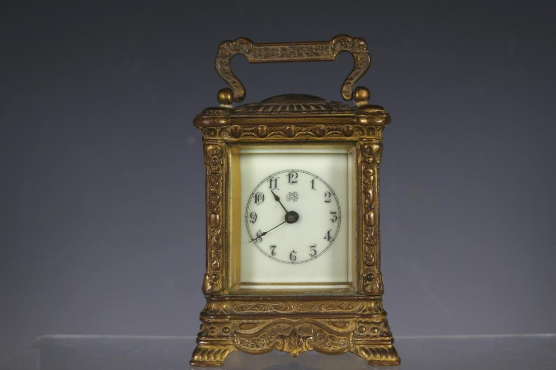 Jennings Brothers Bronze Carriage Clock