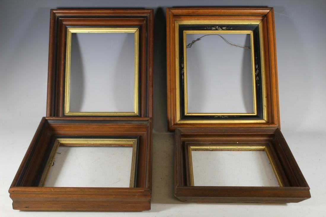 Four Victorian Walnut Frames
