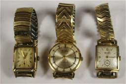 Three Classic 10kt Gold Filled Vintage Wrist Watches
