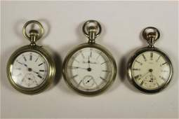 THREE VINTAGE POCKET WATCHES