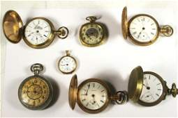 Group of Seven Vintage Pocket Watches