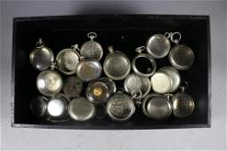 Collection of 25 Vintages Pocket Watches Cases