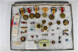 Collection of Military Pins and Medals