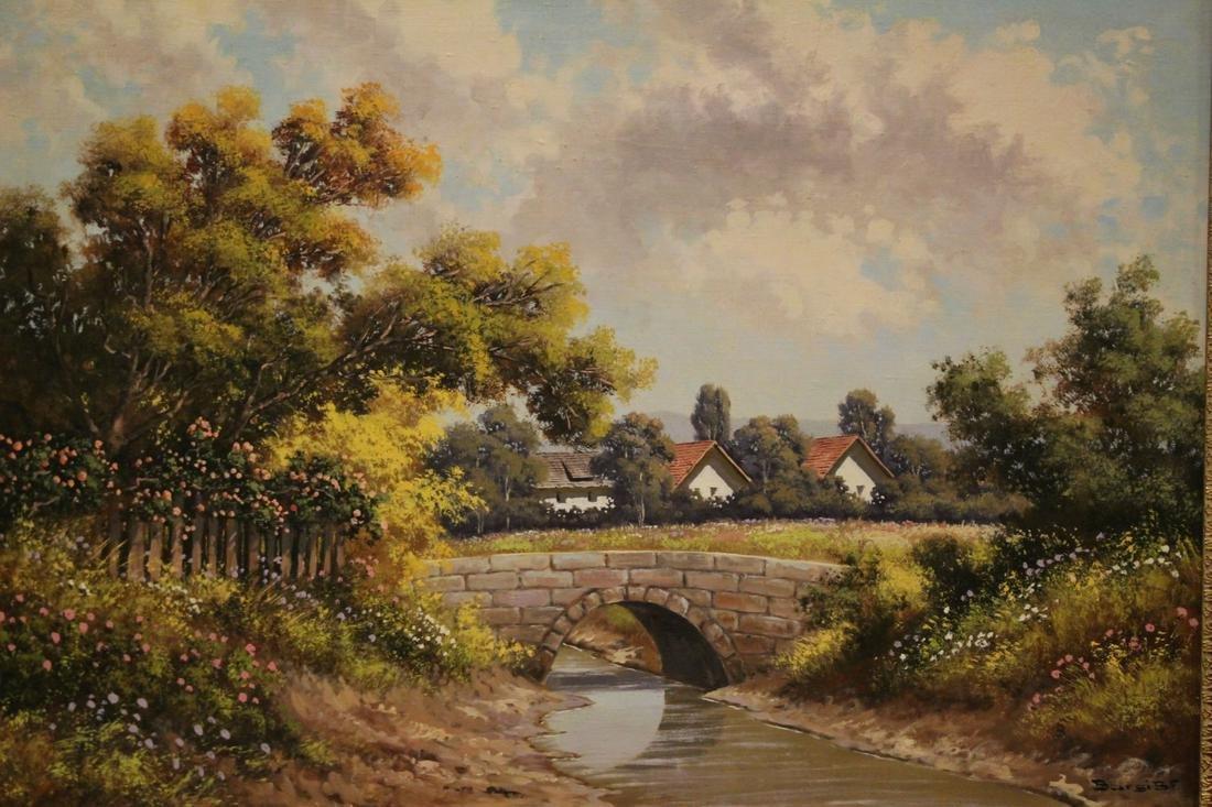 Bela Barsi Continental Landscape Oil on Canvas